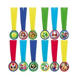 Pack 12 medallas Super Mario Bros