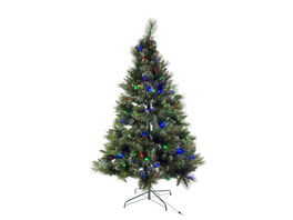 Árbol 120 cm verde 100 Led multicolor D